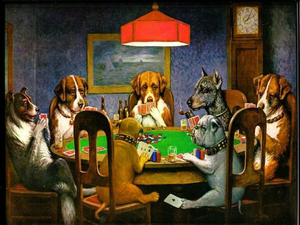 c-m-coolidge dogs playing poker