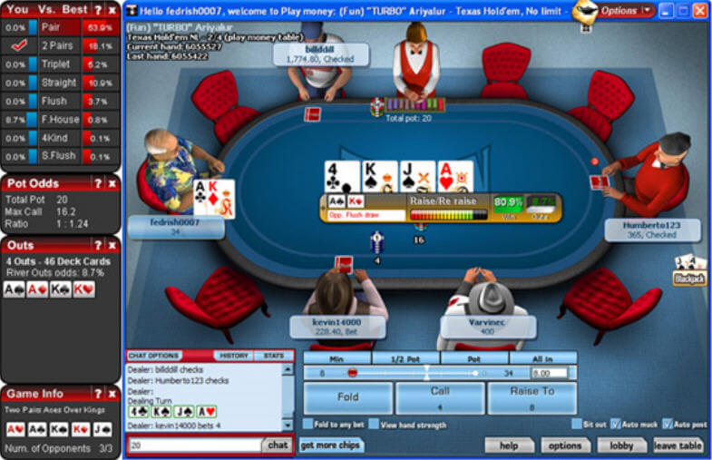 screenshot of magic holdem software