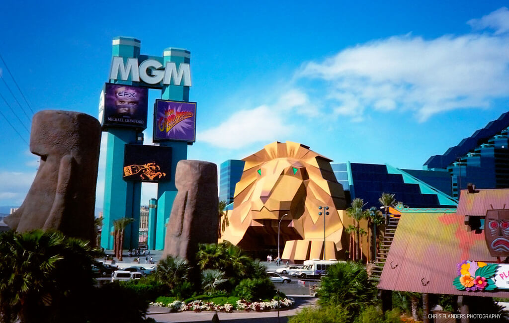 MGM Grand Lion entrance 1998