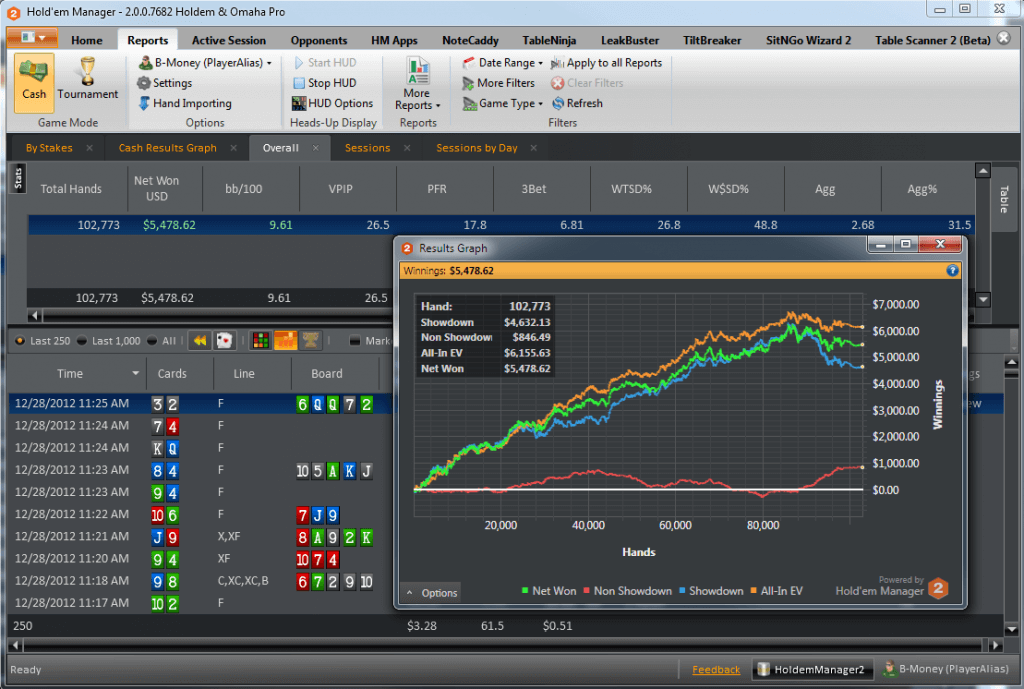screenshot of Holdem Up Manager