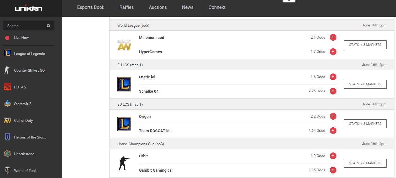 unikrn esports betting
