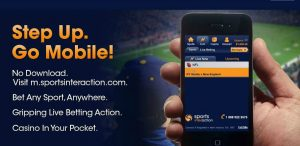 sports interaction mobile version screenshot