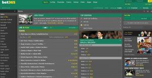 sportsbook screenshot bet365
