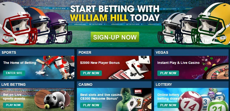 William Hill promotions canada