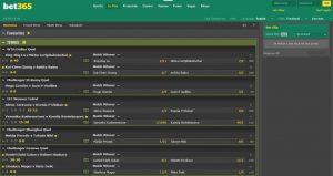 live sports bet365 screenshot