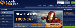 sports interaction new player bonus screenshot