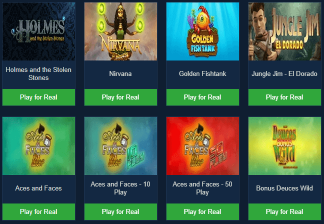 game selection Pinnacle Casino