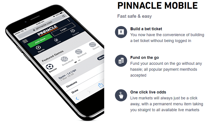 app features Pinnacle mobile