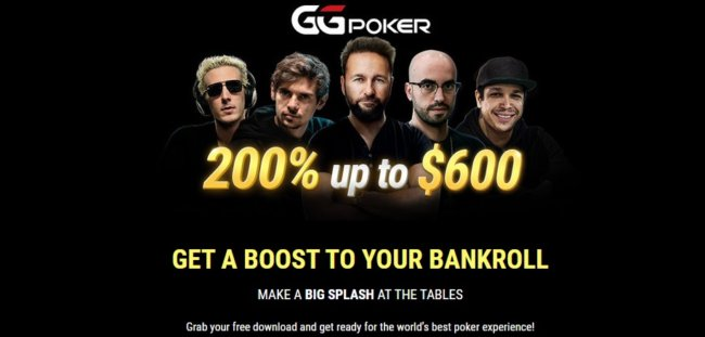 GGPoker Review: 200% deposit bonus on up to $600