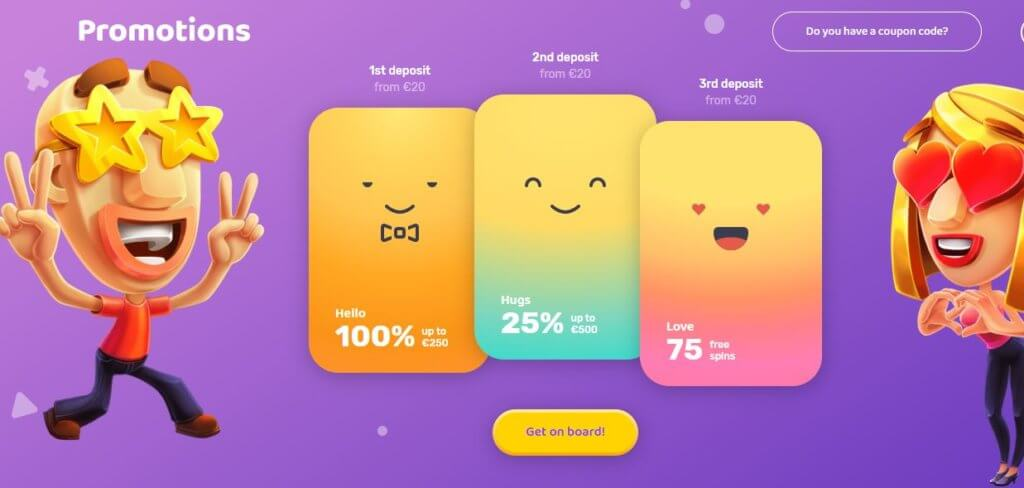 How to use the Emojino bonus code to claim the welcome offer