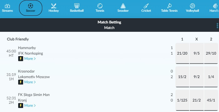 BetVictor In-Play
