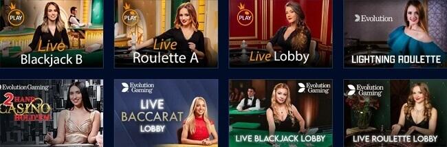 MrBit Live Casino Games