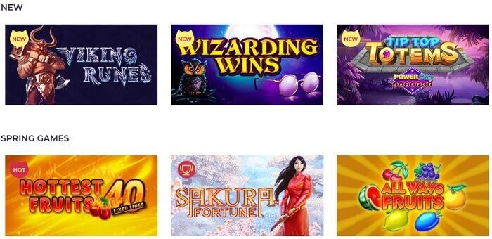 Maneki Casino Games Offered
