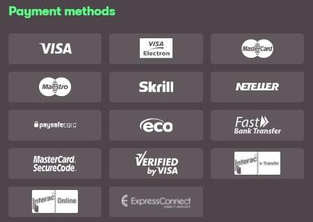 10bet Payment Methods