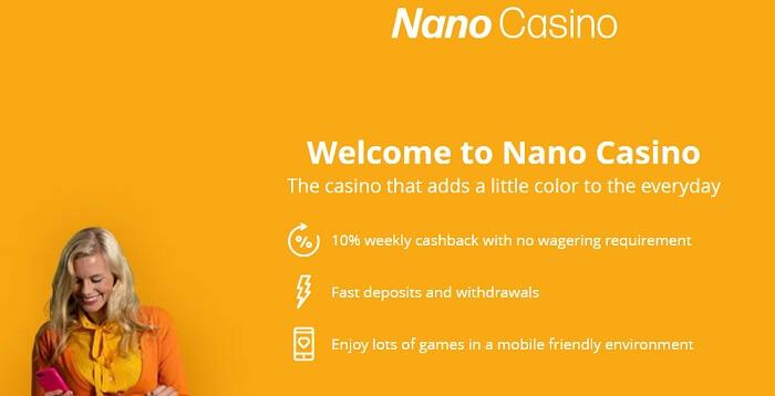 Nanocasino Bonus Offer