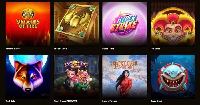 GoGo Casino Range of Games